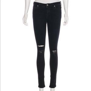 IRO Black Skinny Distressed Jeans